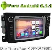 Quad Core 2 Din Android 5.1 Car DVD Automotivo For Benz smart fortwo 2012 2013 2014 With 2G ROM Radio Stereo GPS Navigation