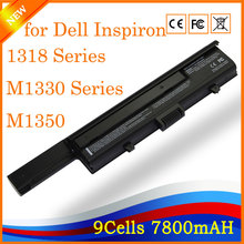 YHR New laptop battery for DELL XPS M1330 For inspiron 1318 UM230 PU556 PU563 CR036 M1330 M1350 RU006 GP975 RU033 HK04(China)