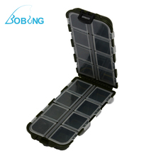 Bobing 13.4*6.4*3cm ABS 16 Individual Compartments Lure Hook Swivels Bait Float Fishing Tackle Box Case Storage
