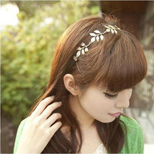 New Fashion Women Girls Gold Olive Leaves Leaf Stretchy Hair Head Band Grecian Style  hair accessories
