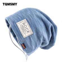 Autumn Hip hop cap Winter beanies men hats Rock logo Casual Cap Turban hat bonnet plus velvet caps for men beanie(China)