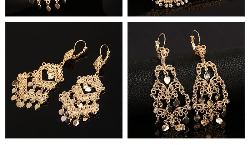 CWEEL Drop Earrings Long Women Biohemian Big Gold Color Statement Earrings Tassel Wedding Fashion Jewelry Earring Party Gifts (4)