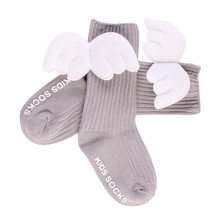 7d61cec99 Children Leg Warmers Cotton Baby Cute Knee High Socks 3D Angel Wings Kids  Toddler Candy Color