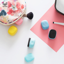 New cute mini sponge shoes brush quick shine cleaning brush for shoes PU bags sofa leather things(China)