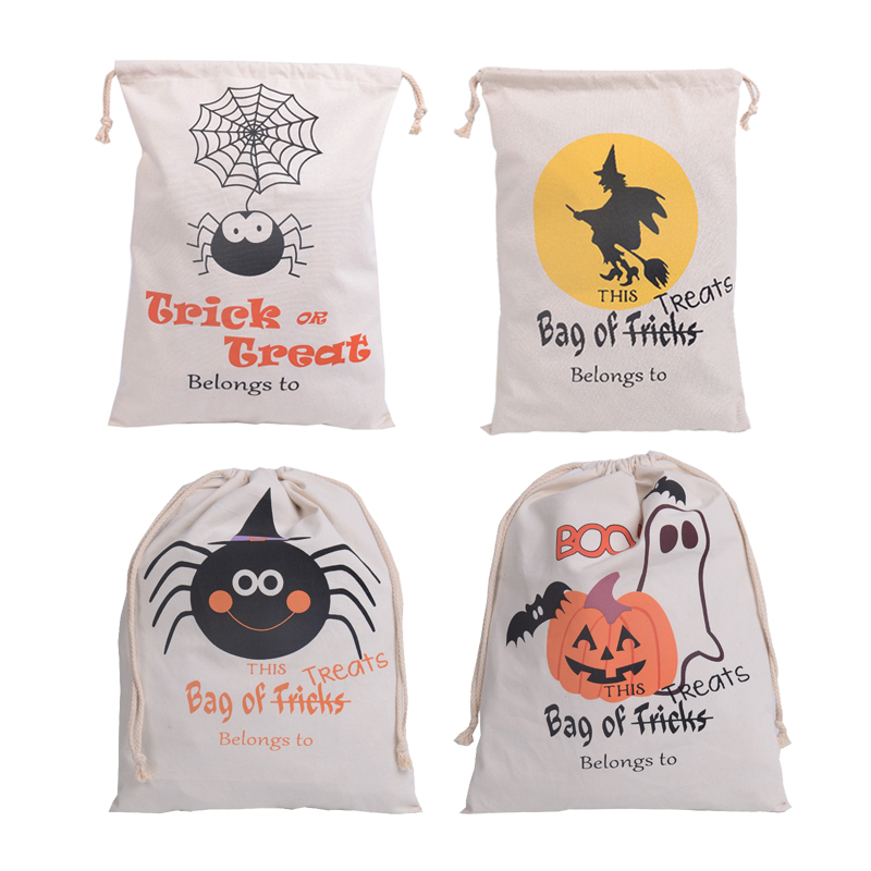 36*48CM Hot Sale Canvas Storage Souvenir Bags Gift Decoration Supplies Candy Bag,baby toys storage bag Halloween storage bag(China (Mainland))