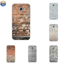 for Samsung Galaxy A7 2017 TPU Phone Case for A320 A520 A720 Shell Transparent for A3 A5 (2017) Back Cover Brick Pattern(China)