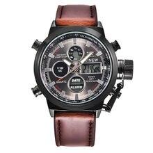 65c50272b74 Design Retro Pulseira De Couro relógios homens marca de topo relógio  masculino 2018 homens novos esportes relógio Analógico de P..
