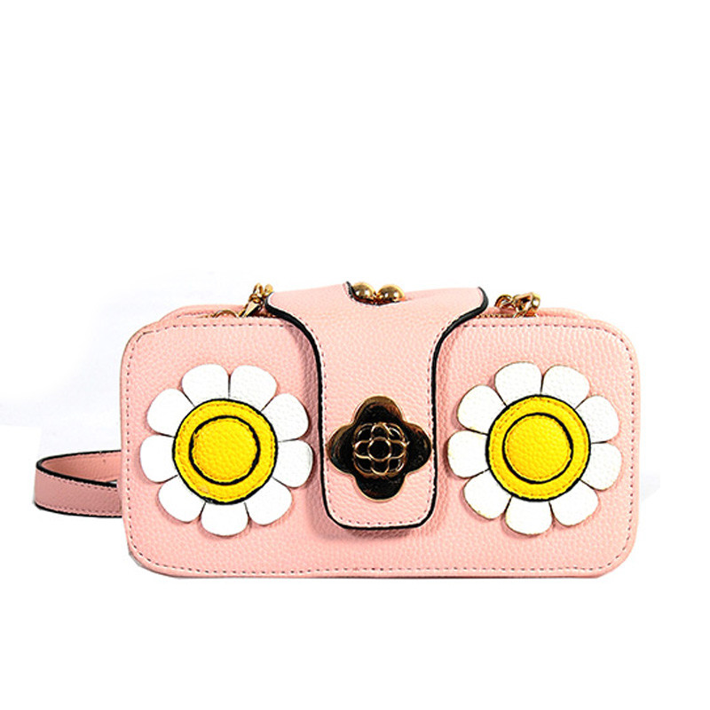 2017 spring summer novelty girl mini flower cross-body bag candy color cute mini one shoulder chain bag sweet messenger bag<br><br>Aliexpress