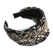 HOT Lady Wide Pleated Headband Alice Printed Wedding Party Black