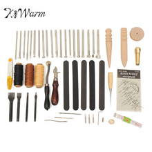 Buy KiWarm 59Pcs Practical Useful Leather Craft Hand Tools Kit Hand Stitching Sewing Stamping Set DIY Sewing Leathercraft Tool for $40.15 in AliExpress store