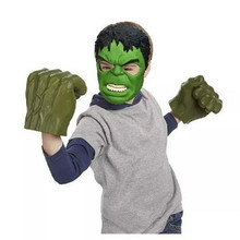 2017 Fashion Avengers Green Hulk Boxing Gloves Smash Hands Flashing Cartoon Hulk Mask Kids Toys  Party Favor