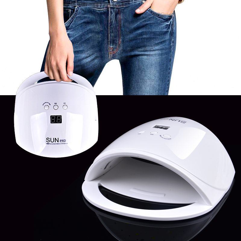 48W Nail Dryer New Style Portable UV Lamp For Drying Unique Low Heat Model Double Power Fast Manicure Colorful Lamp<br>