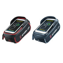 Wheel Up Waterproof MTB Road Bike Bag Basket Frame Front Tube Handlebar Bag Cycling Touch Screen Phone Bags Bicycle Accessories