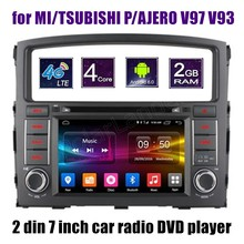 4 Core Android 6.0 Car DVD player radio stereo for MITSUBISHI PAJERO V97 V93 Radio steering wheel control(China)