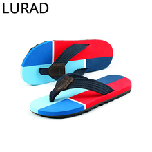 LURAD The trend of four fight men's men's slippers summer sandals male sandals non-slip thick sandals Europe and the United Stat(China)