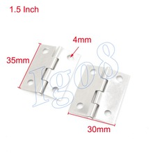 "20pcs 1.5"" Stainless Steel Hinge Door Cabinet Hinges Silvery Tone"