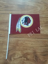 Washington Redskins flag 21 x 14cm flag hand wave flags Activities party decorations 10 pcs /lot(China)