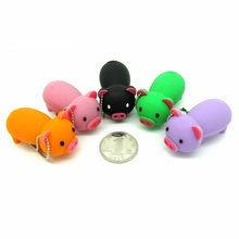 Lovely pink/black/green pig usb flash drive disk memory stick 16gb 32gb pendrive Pen drive personalizado mini cute gift 4gb 8gb