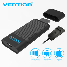 Vention EZCast 2.4G/5G Wireless HDMI Receiver WiFi Display Dongle Adapter 1080P Smart TV Dongle Stick for Android IOS Windows(China)