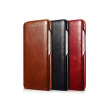 iCarer Luxury Curved Surface Retro Flip Leather Case for Huawei P10 Genuine Cowhide Mobile Phone Bag Case For Huawei P10 Fundas