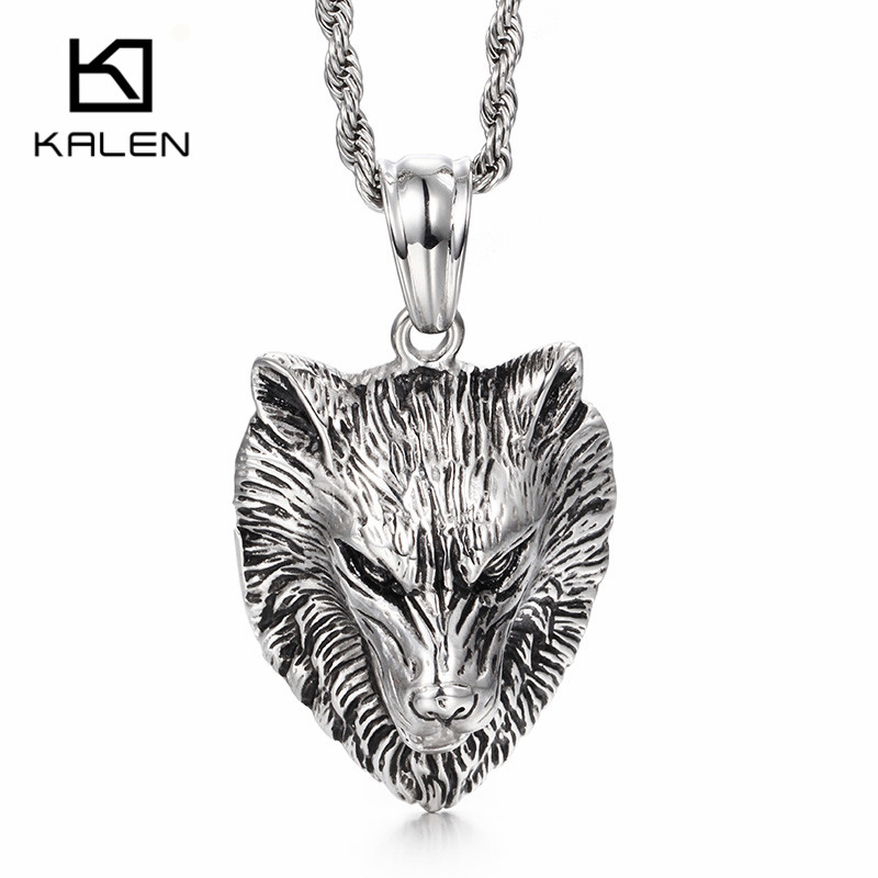 Amazoncom mens necklace wolf  Men Clothing Shoes