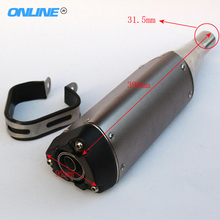 Modified 250cc 200cc 150CC dirt pit bike motorcycle street bike exhaust pipe muffler accessories parts(China)