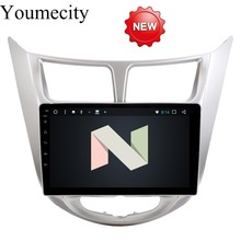 Youmecity Android 7.1 2 DIN Car DVD GPS for Hyundai Solaris 2011 2012 2014 2015 2016 Verna head unit radio video player wifi(China)