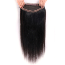 Super Milo 360 Lace Frontal Closure Indian Straight Hair 360 Frontal Closure With Baby Hair Non Remy 100% Human Hair Extension(China)