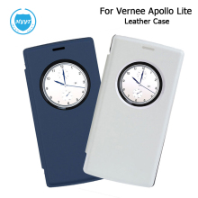 For Vernee Apollo Lite Leather Case Cover Flip With Window-View Skin Cover for Vernee Apollo Lite Phone In 2 Colours Mobile Case