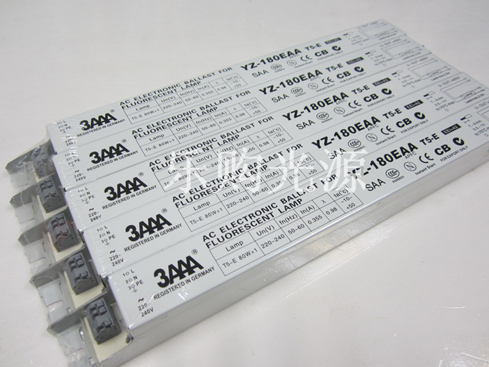 1pc 3AAA 220-240V YZ-180EAA T5-E 80WX1 L358D Electronic Ballast for Fluorescent Lamp T5-E, 358*30*30mm<br><br>Aliexpress
