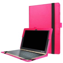 "Ultra Slim Litchi Folio Stand PU Leather Protective Keyboard Station Case Sleeve Cover For Lenovo Yoga Book 2016 10.1"" Tablet PC(China)"