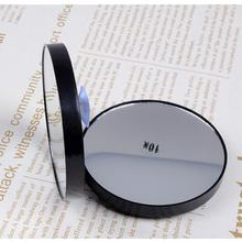 Drop Shipping Makeup Mirror 10X Magnifying Mirror With Two Suction Cups Cosmetics Tools Round Mirror Ten Times Magnification(China)
