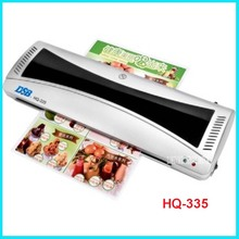220V Hot and Cold Laminator HQ-335 width 335mm (A3) Warm-up time 3-5 minutes Plastic film thickness 80-125mic A key operation(China)