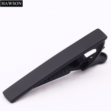 Brand Hawson Fashion Jewelry Men's Tie Bar Black Nice Quality Tie Clip with Luxury Free Tie Pins Gift Box(China)