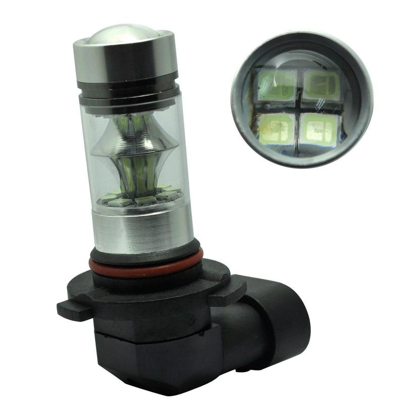 JXLCLYL 2pcs H10 9145 100W 2323 20LED Car Projector Fog Driving Light Bulb White