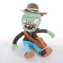 Newest Plants vs Zombies Plush Toy 30cm PVZ Bearded Zombies Plush Doll With School Bag For Kids Children Gift(China)