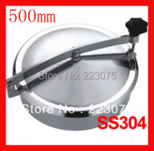 New arrival 500mm  SS304 Circular manhole cover without pressure, Height:100mm tank Hatch