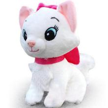 1PC Kawaii Marie Cat Plush Dolls Soft Cartoon Animals toys for Children The Aristocats Cat Plush Toys 20cm(China)