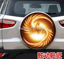 After the spare tire cover spare tire Phoenix car stickers car stickers sticker For RAV4 spare tire Swiss Tiger wing blog