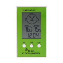 LCD Digital Thermometer Hygrometer Clock Temperature Humidity tester weather station Measurement C/F Comfort Level Display