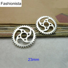 90pcs Antique Silver/Bronze Gear Charms 23mm Cog Charms Jewelry Making Supplies,Small Metal Wheel Charms -Free Shipping