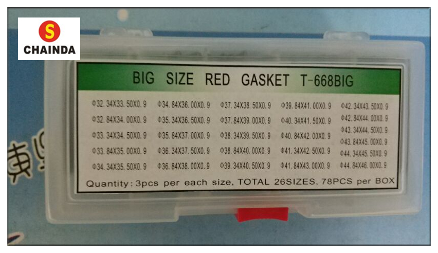 Free Shipping 78pcs Red Crystal O Ring Gasket Large Size for European Watches<br>