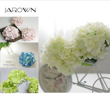 Luxury Artificial silk Hydrangea Flower Head 15cm For DIY Wedding Wall Flore Party Home accessory Decoration Flower 20colors