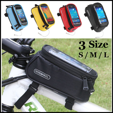 Cycling Riding Bicycle Frame Pannier Waterproof Bike Bag Touchscreen Phone Case Front Top Tube Basket Trunk Outdoor Rack Pouch