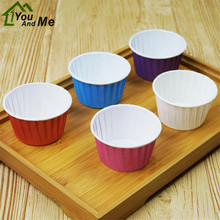 100 Pcs/lot Paper Muffin Cupcake Paper Muffin Cases Cake Cup Stand Mold Kitchen Oven Baking Tools 5*3.9*6.8cm