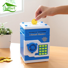 Piggy Bank Mini ATM Money Box Safety Electronic Password Chewing Coins Cash Deposit Machine Saving Box for Children Kids Gift(China)