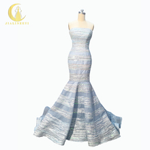 Rhine Real Sample Image Sky Blue Elie Saab Strapless Hand Sequins Mermaid Formal Evening Dresses Prom Party Dresses(China)