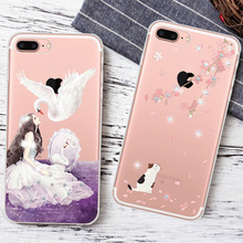 For Girls Ladies Luxury Diamond Colored Drawing Flowers Charming Girls Back Cover For iPhone Shell 5 5s SE 6 6s 7Plus Phone Case