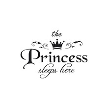 Hot Sale muursticker The Princess Decal Living Room Bedroom Home Decor Vinyl Carving Wall Decal Fridge Art Wall Sticker(China)