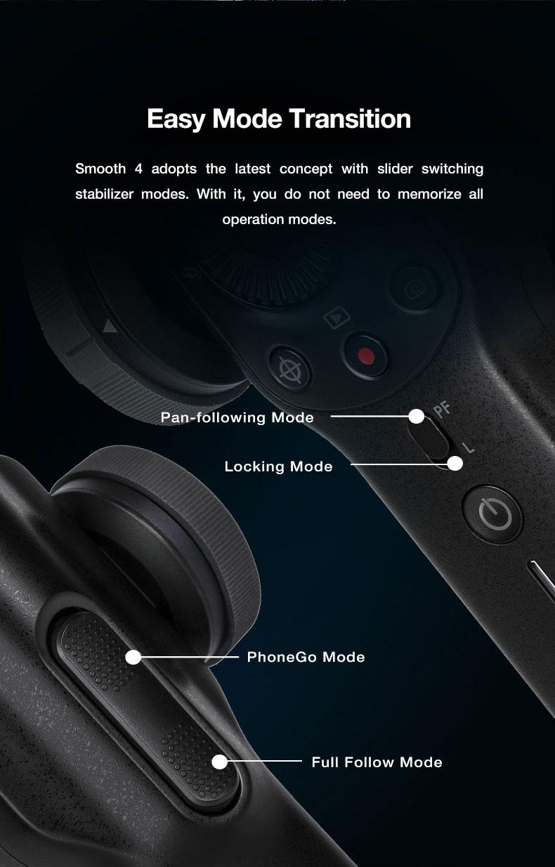 Presell ZHI YUN smooth 4 smartphone video Handheld 3 Axis Gimbal Portable Stabilizer for iPhone x Camera Gimbal VS zhi yun Smooth Q